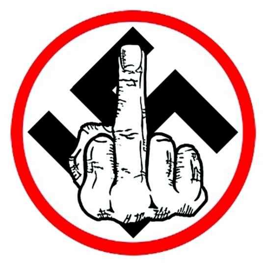 ANTI NAZI FINGER