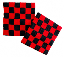 CHECKERBOARD BLACK & RED