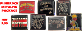 PUNKROCK METAL PIN PACKAGE