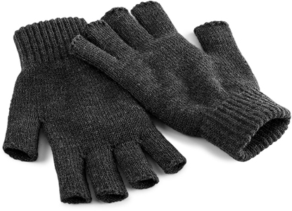 FINGERLESS STRICK HANDSCHUH