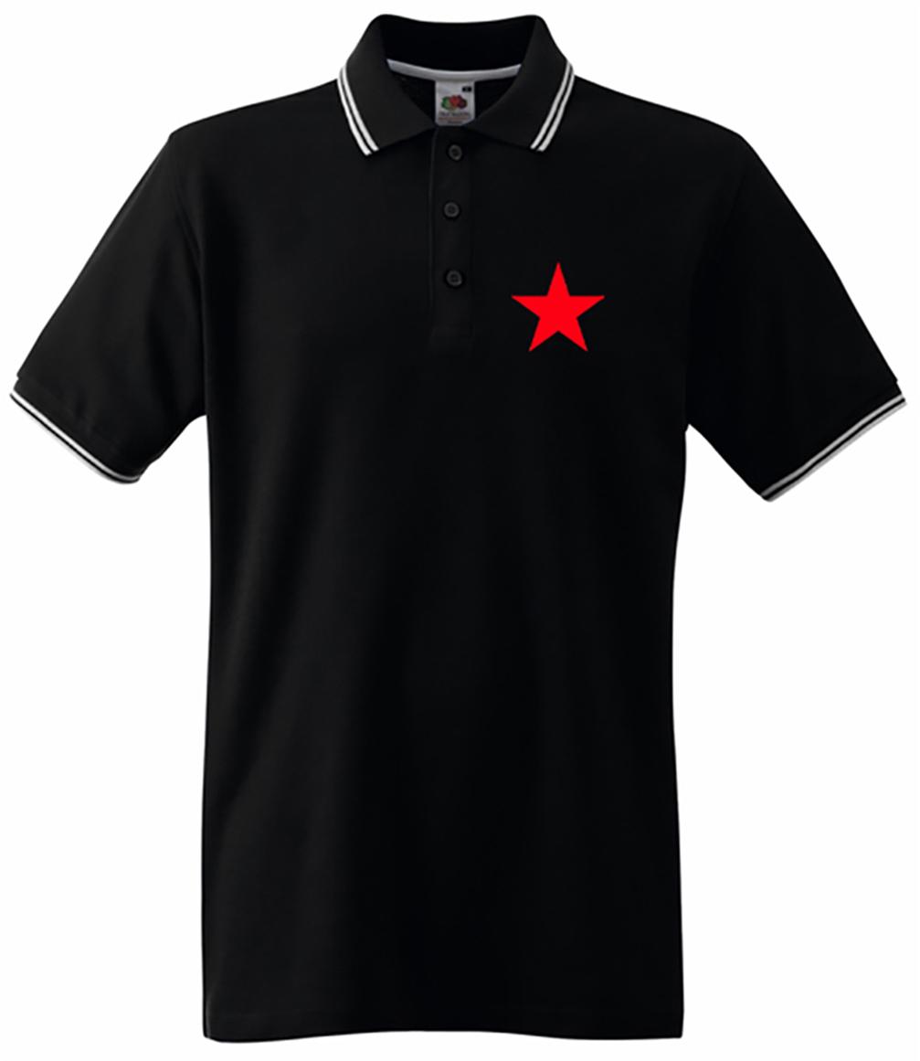 RED STAR STREIFEN POLOSHIRT