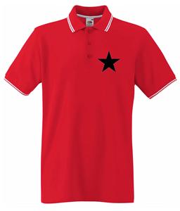 BLACK STAR STREIFEN POLOSHIRT