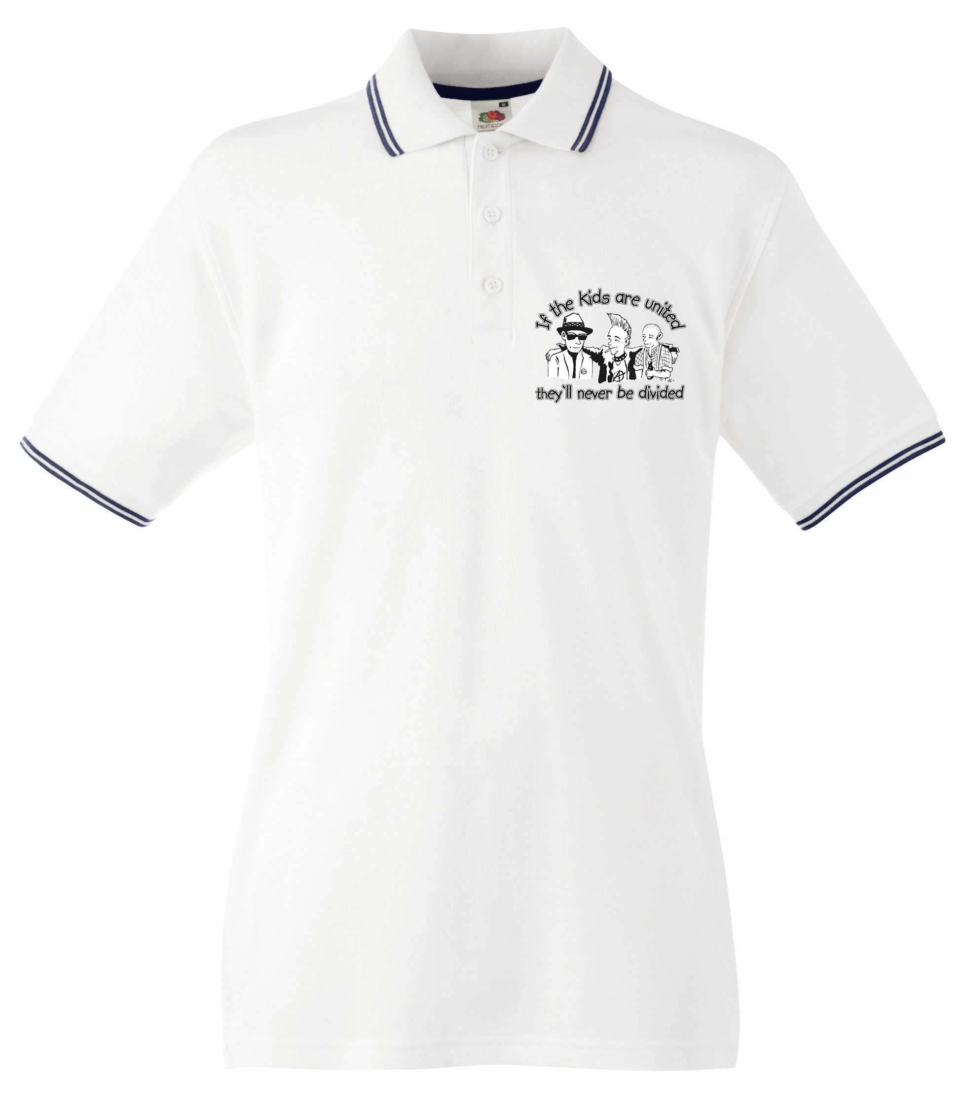 IF THE KIDS ARE UNITED STREIFEN POLOSHIRT