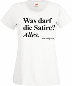 WAS DARF DIE SATIRE? ALLES.