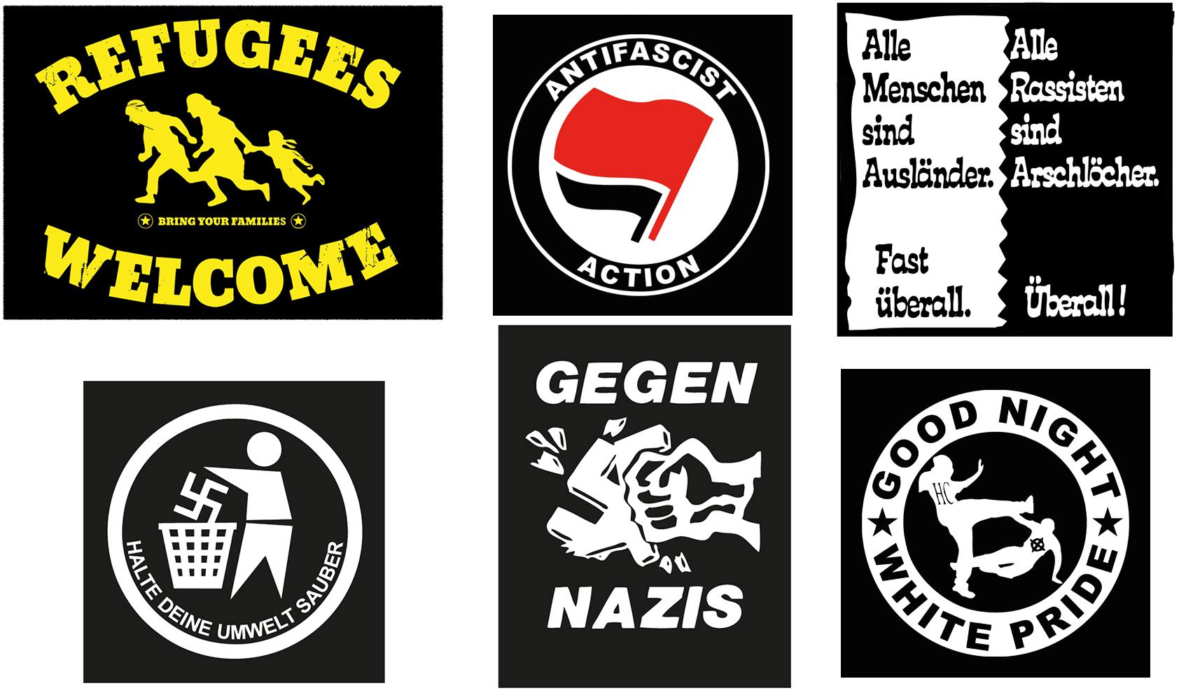 ANTIFA GEGEN NAZIS AUFNÄHER PACK