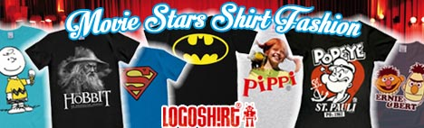 Logoshirt, Batman, Superman, Star Wars, Peanuts, South Park, Walt Disney, Pippi Langstrumpf